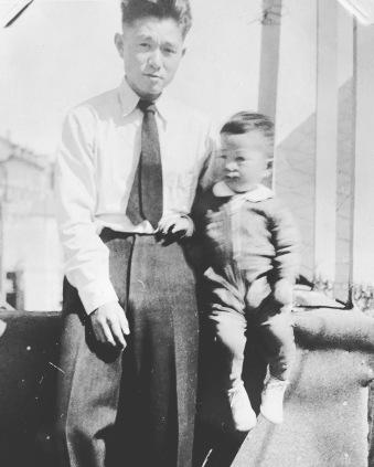 Grandpa Tamotsu and my dad