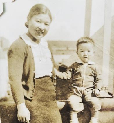 Grandma Itsuye and my dad